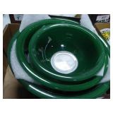 Corning Pyrex green/clear nested bowls