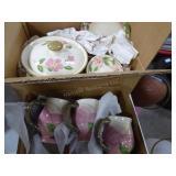"2 boxes Franciscan ""desert rose"" - Portugal made"
