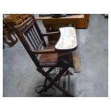 Antique convertible high chair/walker