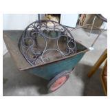 Vintage metal yard cart (AS IS - holes & rust)
