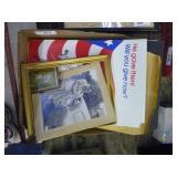 Box of vintage photos & veteran posters