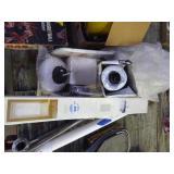 Lot of hardware items, blinds, light fixture & mor