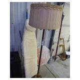 Vintage ironing board & floor lamp (Cracked)