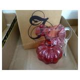 Fenton cranberry pitcher
