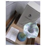Fenton tulip vase sea green - signed