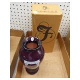Fenton aubergine vase - signed