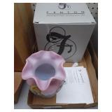 Fenton cabernet blush vase signed