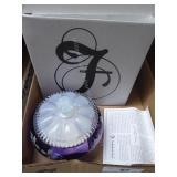Fenton royal purple candy box - signed