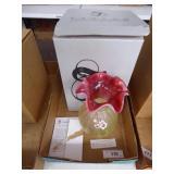 Fenton topaz amberina vase 2006 - signed