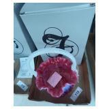 Fenton cranberry opal - poppy basket