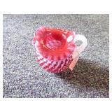 Fenton opal spiral optic hobnail pitcher - NO box