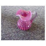 Fenton cranberry w/ white pitcher - NO box