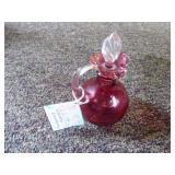 Fenton cranberry cruet w/ stopper - NO box