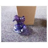 Fenton purple painted vase signed