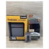 Handgun accessories Treklite lock box. Red laser