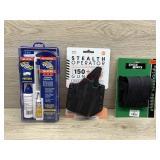 Handgun bundle. Cleaning kit. Multi fit holster.
