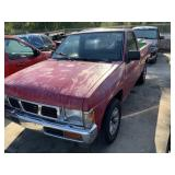 1993 NISSAN PICKUP RED