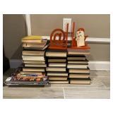 ASST BOOKS W/ ORANGE BOOK HOLDER
