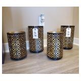GOLD FLORAL CANDLEHOLDERS