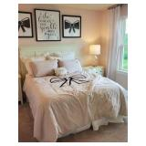 PINK BOW QUEENSIZE BEDDING