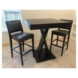 PEDESTAL TABLE & 2 CHAIRS