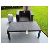 2PC WICKER CHAIR & TABLE