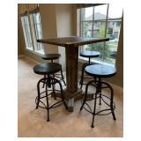 PUB TABLE & 4 STOOLS