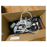 Large box of electronic cords - mini chime - Sony