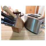 Krups toaster - knife block with Performa knives