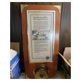 "Barometer with signed print of ""An American"