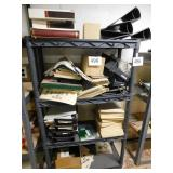 Contents of shelves: stamps - stamp albums -