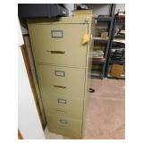 Four drawer metal filing cabinet, Anderson Hickey