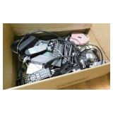 Large box of electronic cords - remotes - Vantage