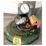 John Deere battery operated clock with moving