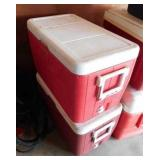 Coleman hinged top cooler - Coleman hinged top