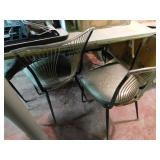 Retro/art deco table & 6 chair set by Virtue