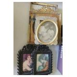 Small metal picture frames