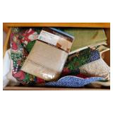 Drawer of tablecloths - placemats - kitchen towel