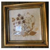 "Three pictures: dried wild flowers framed, 9"" x"