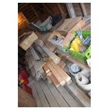 Large pile of assstd. Wood including plywood, 2 x