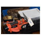 "DR 18v. 9"" Chain saw w/charger and 2 batteries,"