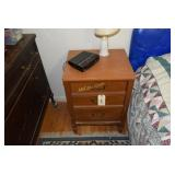 3 drawer bed stand, reading light, RCA clock