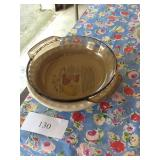 PYREX PIE PLATES AND CLOCK