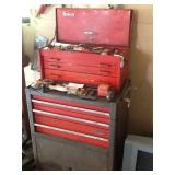 SHOP TOOL BOX, AND ITEMS