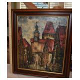 29x25 Oil Palet Painting East European