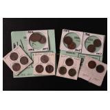 Eighteen Indian Head Penny Coins