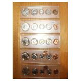 1942, 1969, Two 1988, and 1989 Coin Sets