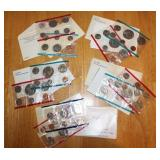 1972, Two 1978, 1979, 1988 Uncirculated Coin Sets