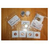 Uncirculated Sacagawea, Quarters, and Penny Coins