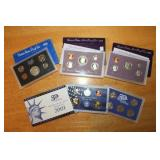 1970, Two 1989, and 2001 U.S. Proof Sets